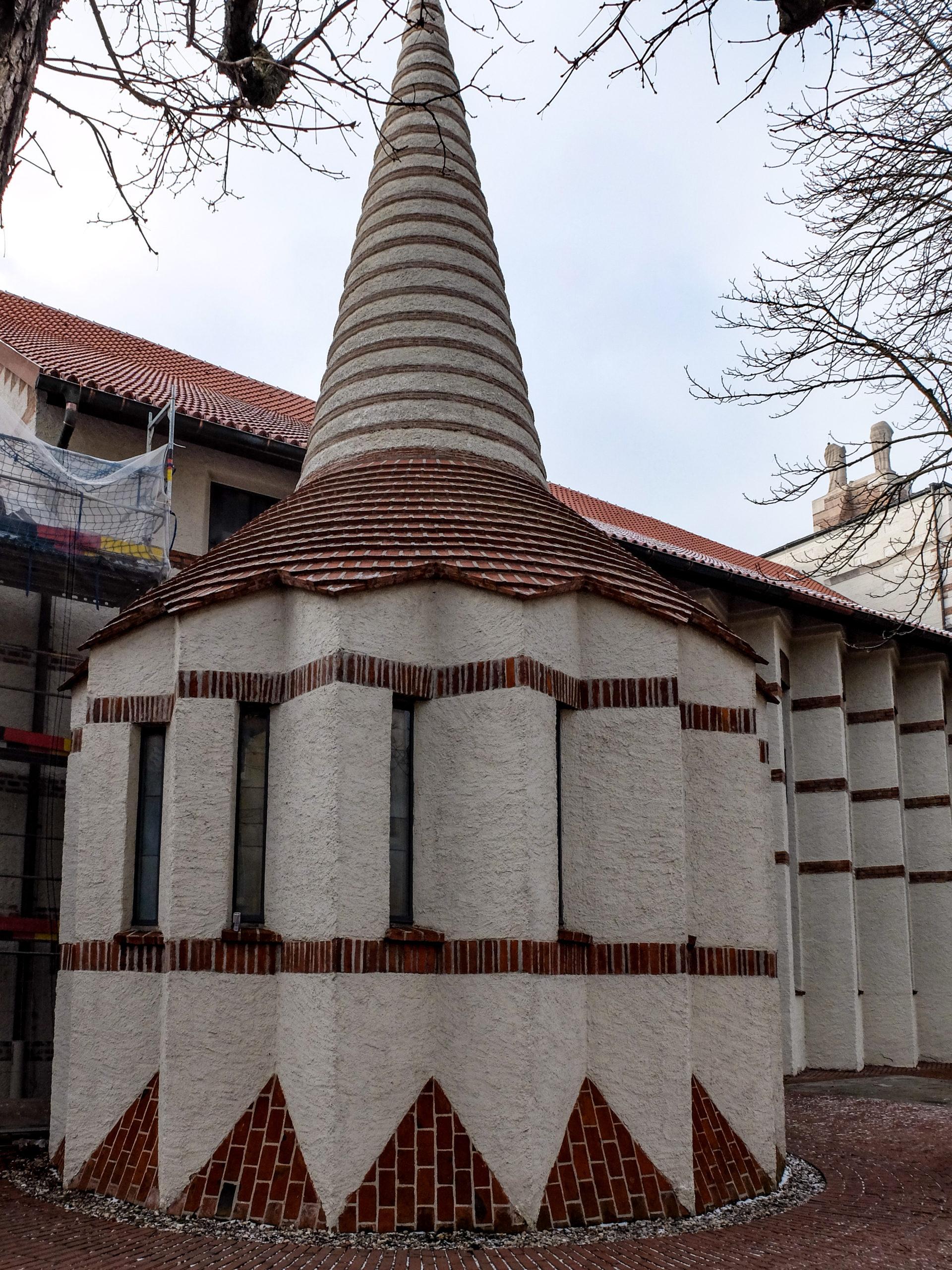 Katholische Pfarrkirche Sankt Johann Baptist, 1922-1926. Architekt: Dominikus Böhm