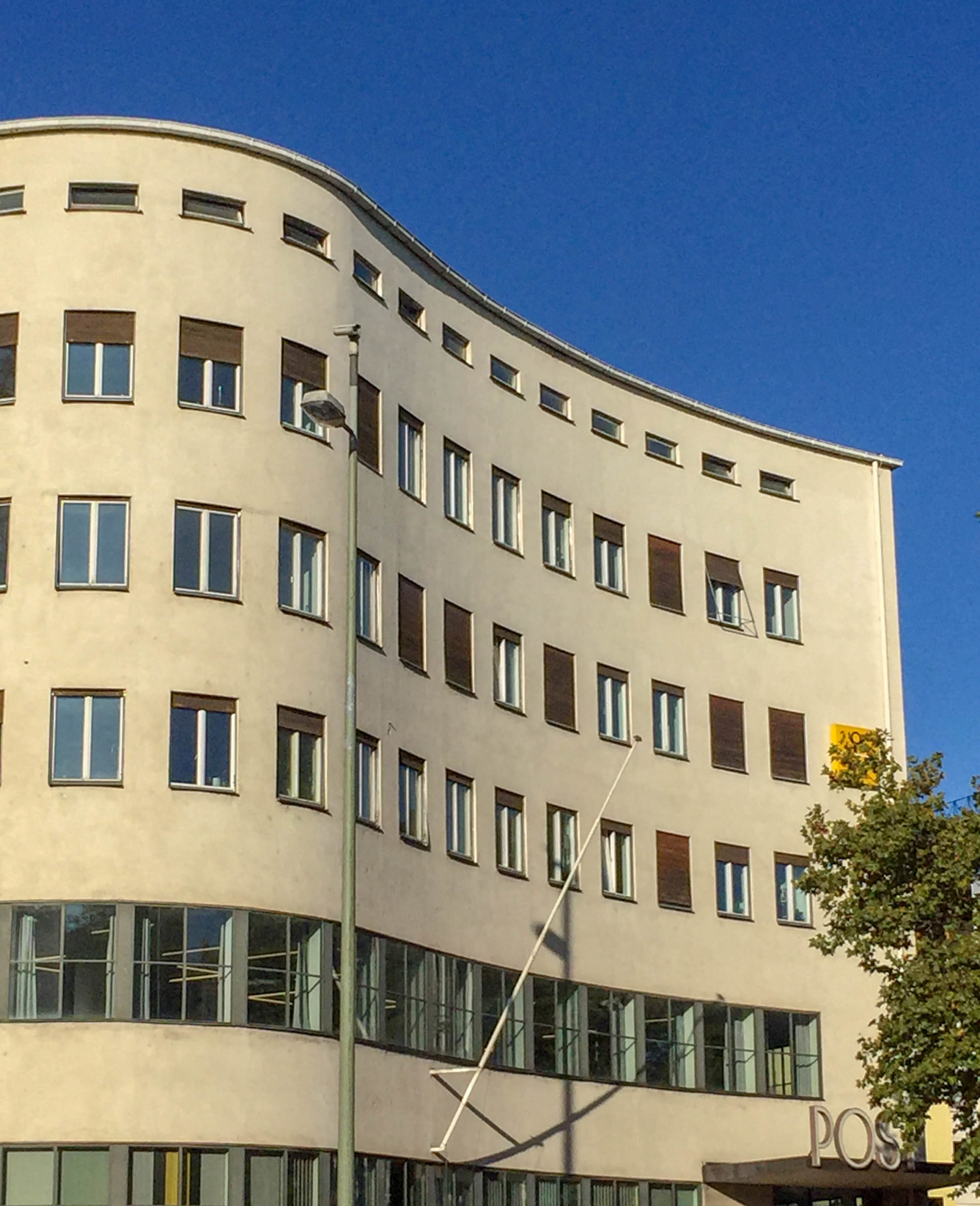 Post office building, 1931-1932. Architects: Franz Holzhammer, Walther Schmidt