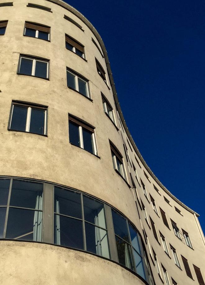 Post- und Wohngebäude, 1931-1932. Architekten: Robert Vorhoelzer, Franz Holzhammer, Walther Schmidt
