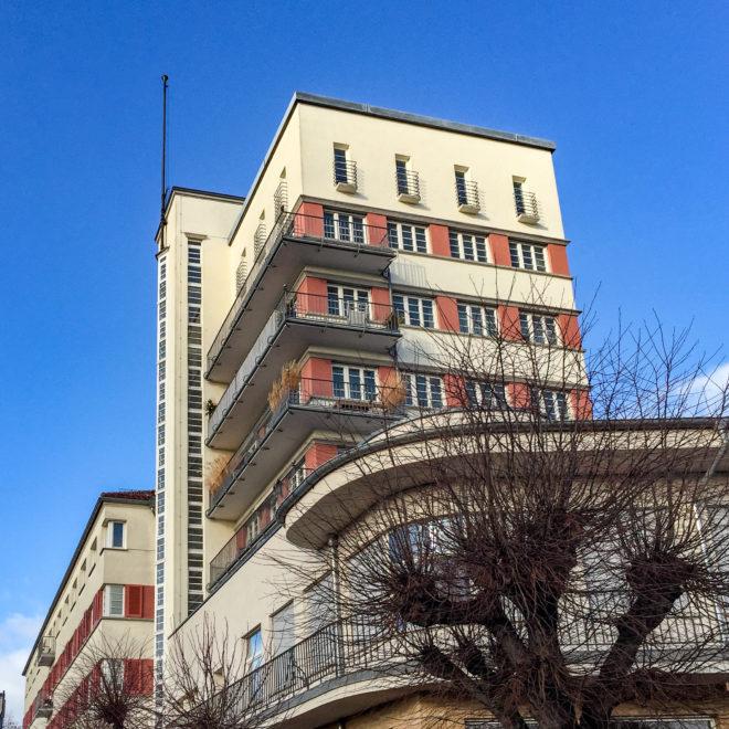 Friedrich-Ebert-Wohnhof, 1924-1927. Architekt: Karl Beer