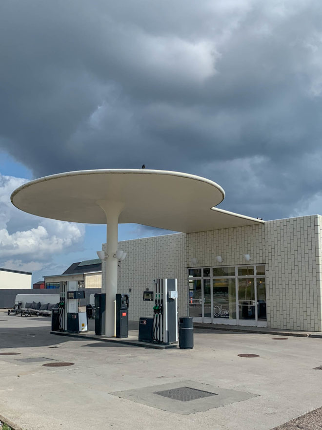 Tankstelle Skovshoved, 1936. Architekt: Arne Jacobsen