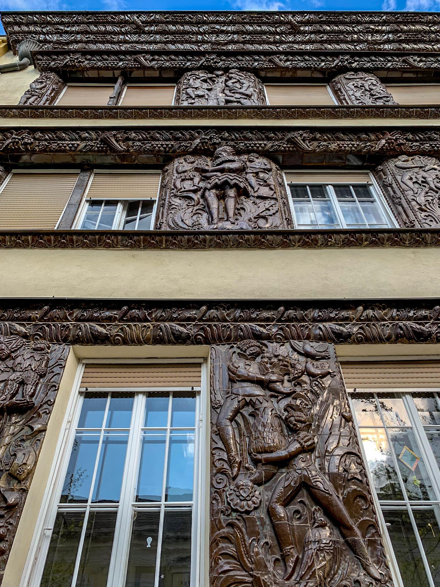 Schokoladenhaus, 1914. Architect: Ernst Lichtblau