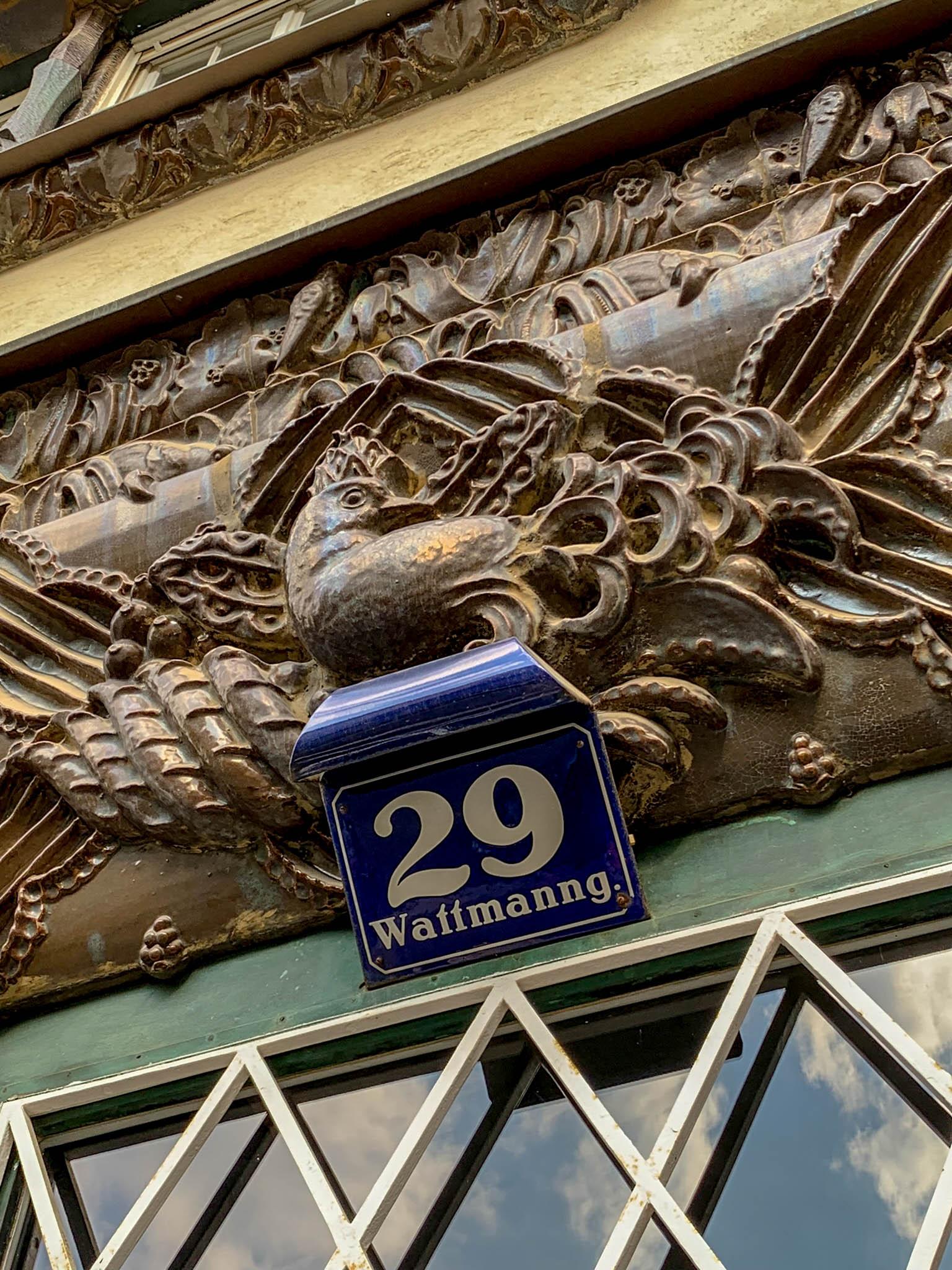 Schokoladenhaus, 1914. Architekt: Ernst Lichtblau