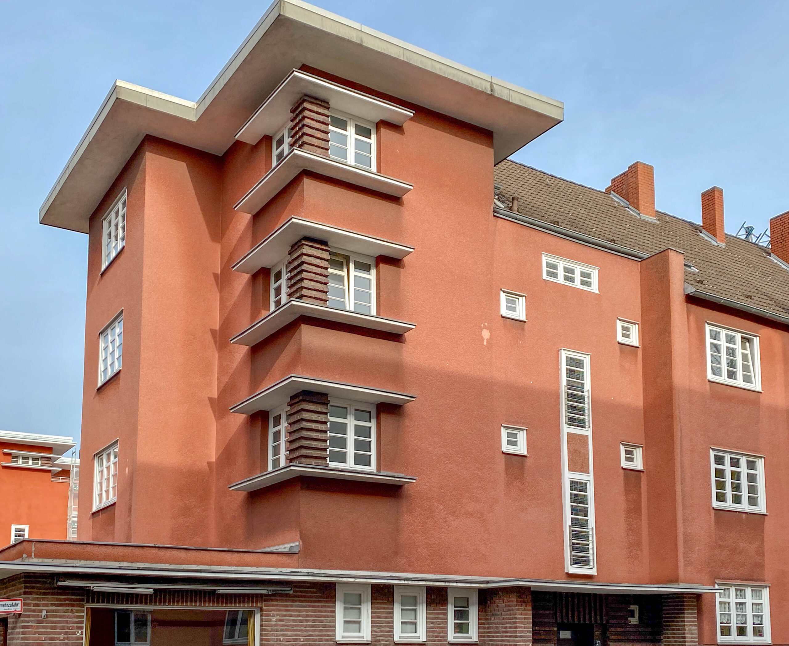 GAG Housing Estate Alpener Straße, 1927-1928. Architect: Otto Müller-Jena