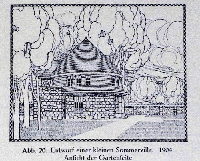 Peter Behrens: Design of a small summer villa, 1904. In: Fritz Hoeber: Peter Behrens, Munich 1913, p. 23