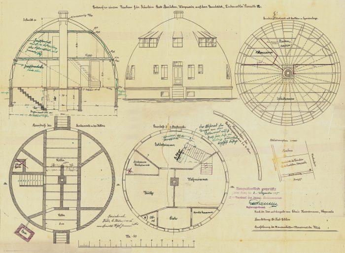 Building permit issued to Grete Barleben, later Koenemann, 5.12.1925. Archive Freunde Worpswedes e.V.