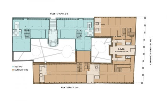 Brahms Kontor, 1919-1931. Architekten: Ferdinand Sckopp, Wilhelm Vortmann